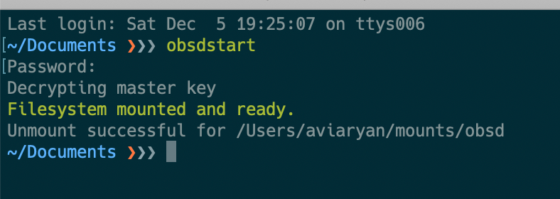 obsdstart command running